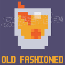 Old Fashioned Pixel Drink Decal Sticker