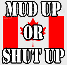 Canadian Mud up or Shut up Style 2 4x4 Decal Sticker