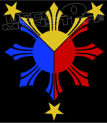 Philippines Stars 11 Decal Sticker