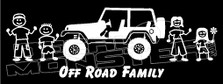 Jeep Off Road Family Decal Sticker