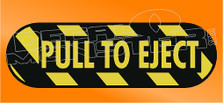Pull to Eject Jeep Decal Sticker