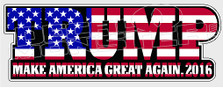 Trump Make America Great Again 2016 Flag Decal Sticker