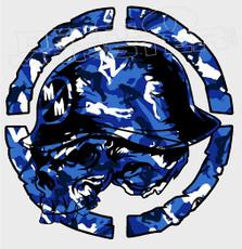 Metal Mulisha Blue Babe Camo Decal Sticker
