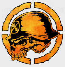 Metal Mulisha Bright Orange Flames Camo Decal Sticker