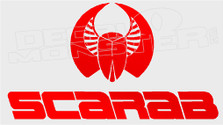 Scarab Logo Style 2 Boat Decal Sticker