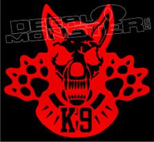Fierce K9 Style 1 Dog Decal Sticker