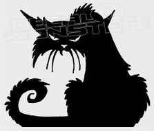 Scarry Cat Silhouette 2 Decal Sticker