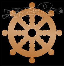 Old Ship Steering Wheel 1 Boat Decal Sticker