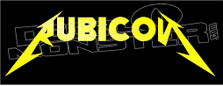 Rubicon Metalica Jeep Decal Sticker