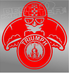 Triumph Motorcycles Motorcyclist Silhouette Decal Sticker