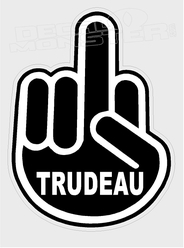 Fuck Trudeau Middle Finger1 Canada Decal Sticker