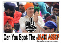Justin Trudeau Can You Spot the Jackass Canada Decal Sticker