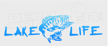 Lake Life Fish Decal Sticker DM