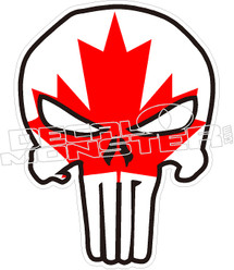 Canada Punisher Skull Decal DecalMonstercom - Decals for boats canada