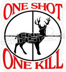 One Shot - Hunting Decal
