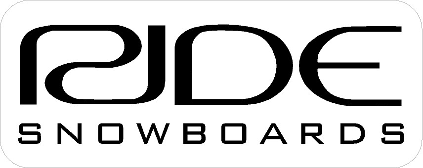ride snowboards decal