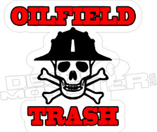 Oilfield Trash Skull Decal