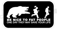 Be Kind Fat People Decal