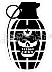 Skull Grenade Decal