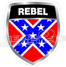 Rebel Crest Decal