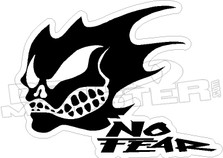 No Fear Skull Decal