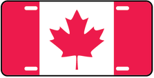 Canada World Flag Auto Plate