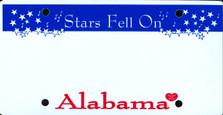 Alabama State Auto Plate