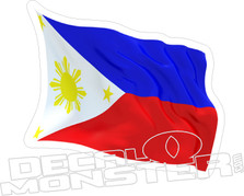 Philippines 3D Flag Wave Decal DM