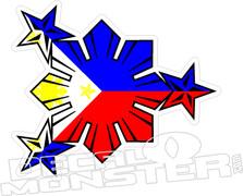 Philippines Flag Contour Cut Decal DM