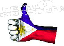 Philippines Thumbs Up Decal DM