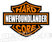 Hard Core Newfoundlander Decal DM