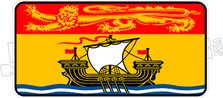 New Brunswick Flag Plate Decal DM