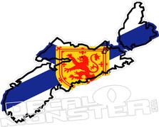 Nova Scotia Flag Provincial Outline Decal DM