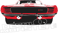 Camaro Z28 Front End Color Silhouette Wall Decal DM