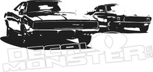Charger RT Mustang Car Silhouette Wall Decal DM