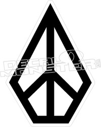 Volcom Peace Diamond Decal Sticker