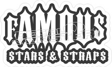 Famous Stars Straps New Decal Sticker