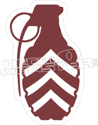 Grenade Sergeant Decal Sticker