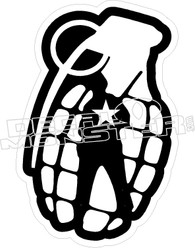 Grenade Soldier Decal Sticker