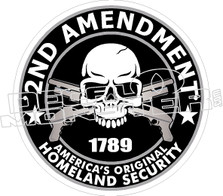 2nd Amendment Original Security Decal Sticker
