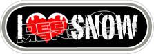 I Love Snow Decal Sticker