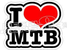 Love Mountain Biking Decal Sticker