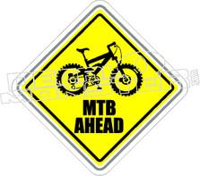 Mountain Bike Ahead Decal Sticker