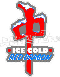 Ice Cold Red Dragon Decal Sticker