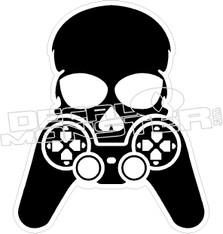 Gamer Skull Cross Bones Decal Sticker