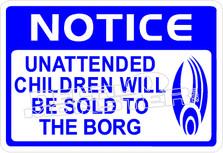 Star Trek4 Children Sold To Borg Decal Sticker