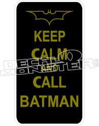 Keep Calm Call Batman Decal Sticker