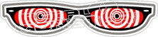 Crazy Glasses Decal Sticker