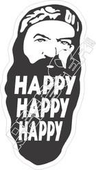 Duck Dynasty1 Happy Happy Happy Decal Sticker
