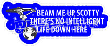 Beam Me Up Scotty Decal Sticker
